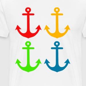 4 Anchors Multicolour - Men's Premium T-Shirt