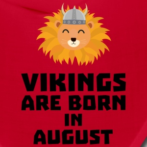 Vikings are born in August S7v9w Caps - Bandana