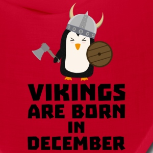 Vikings are born in December Sl9w1 Caps - Bandana