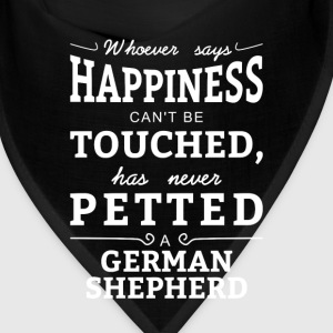 Happiness cant touched neve petted German Shepherd Caps - Bandana