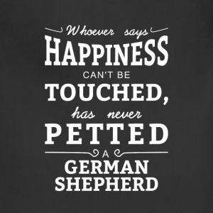 Happiness cant touched neve petted German Shepherd Aprons - Adjustable Apron