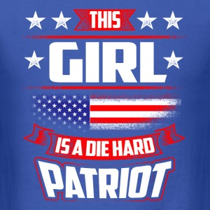 4th Of July This Girl Die Hard Patriot Shirt Gift T-Shirts - Men's T-Shirt