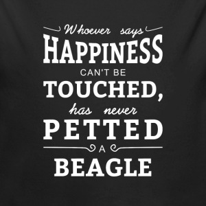Happiness can't touched never petted a Beagle Baby Bodysuits - Long Sleeve Baby Bodysuit