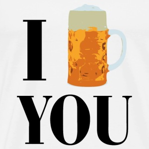 I love beer T-Shirts - Men's Premium T-Shirt