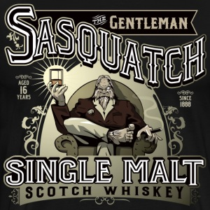 Gentleman Sasquatch Single Malt Scotch - Men's Premium T-Shirt