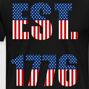 Est. 1776 Independence Day American Flag T-Shirt T-Shirts - Men's Premium T-Shirt