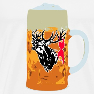 Beer - Deer - Bikini T-Shirts - Men's Premium T-Shirt