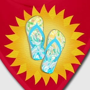 Summer Beach Days Flip-Flops   - Bandana