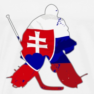 Hockey Keeper - Slovakia Flag T-Shirts - Men's Premium T-Shirt