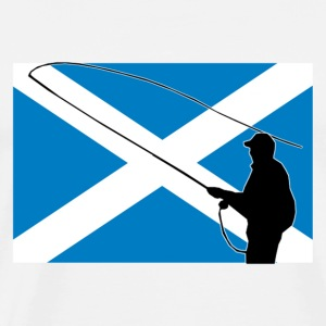 Fishing - Scotland Flag T-Shirts - Men's Premium T-Shirt