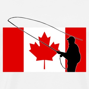 Fishing - Canada Flag - Maple Leaf T-Shirts - Men's Premium T-Shirt
