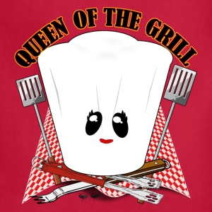 Queen of the Grill - Chef Hat   - Adjustable Apron