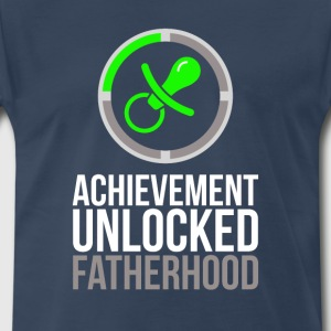 First Fathers Day Achievement Unlocked Fatherhood  - Men's Premium T-Shirt