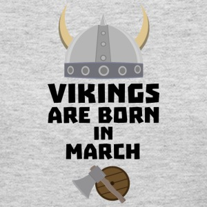 Vikings are born in March S5e6q Long Sleeve Shirts - Women's Long Sleeve Jersey T-Shirt