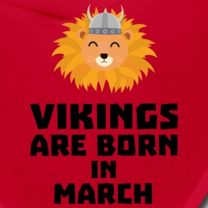 Vikings are born in March Sqjc0 Caps - Bandana