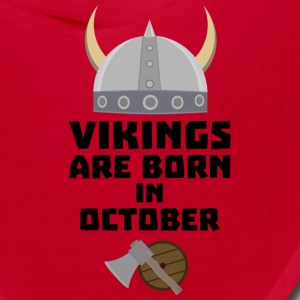 Vikings are born in October Sv005 Caps - Bandana