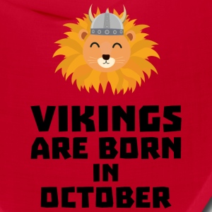 Vikings are born in October S0v8r Caps - Bandana