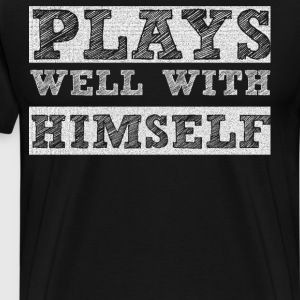 Plays Well with Himself Introvert Imagination  T-Shirts - Men's Premium T-Shirt