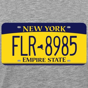 2010 New York License Plate T-Shirt - Men's Premium T-Shirt