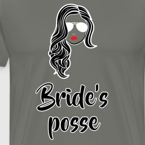 Bride's Posse Bachelorette Wedding Party T-Shirt T-Shirts - Men's Premium T-Shirt