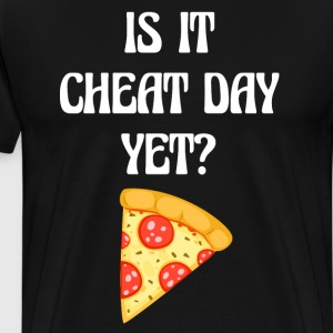 Is it Cheat Day Yet Workout Pizza T-Shirt T-Shirts - Men's Premium T-Shirt