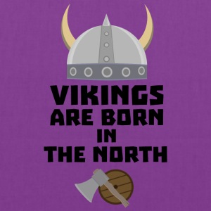 Vikings are born in the North S7t8x Bags & backpacks - Tote Bag