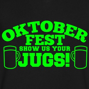 OKTOBERFEST  Show us your JUGS T-Shirts - Men's V-Neck T-Shirt by Canvas