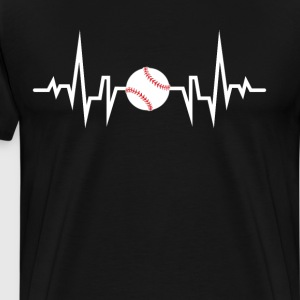 Baseball is Life Heartbeat Medical Shirt T-Shirts - Men's Premium T-Shirt