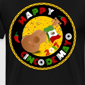 Happy Cinco de Mayo 2017 Guitar Mexican Flag Shirt T-Shirts - Men's Premium T-Shirt