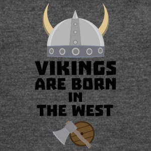 Vikings are born in the West S7kea T-Shirts - Women's Vintage Sport T-Shirt