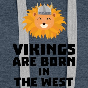 Vikings are born in the West S658h Hoodies - Women's Premium Hoodie