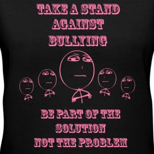 STAND AGAINST BULLYING - PINK PRINT Women's T-Shirts - Women's V-Neck T-Shirt