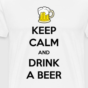 Keep calm and drink a beer white t-shirt - Men's Premium T-Shirt