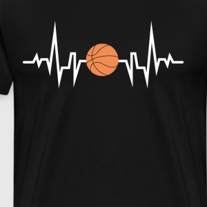 Basketball Player Heartbeat EKG T-Shirt T-Shirts - Men's Premium T-Shirt