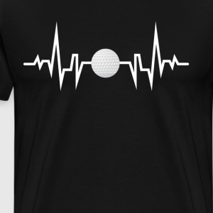 Golfer Heartbeat EKG Retired Person T-Shirt T-Shirts - Men's Premium T-Shirt