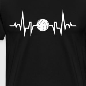 Volleyball Player Heartbeat EKG T-Shirt T-Shirts - Men's Premium T-Shirt