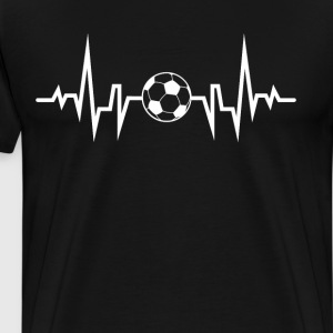 Soccer Player Heart Beat EKG T-Shirt T-Shirts - Men's Premium T-Shirt