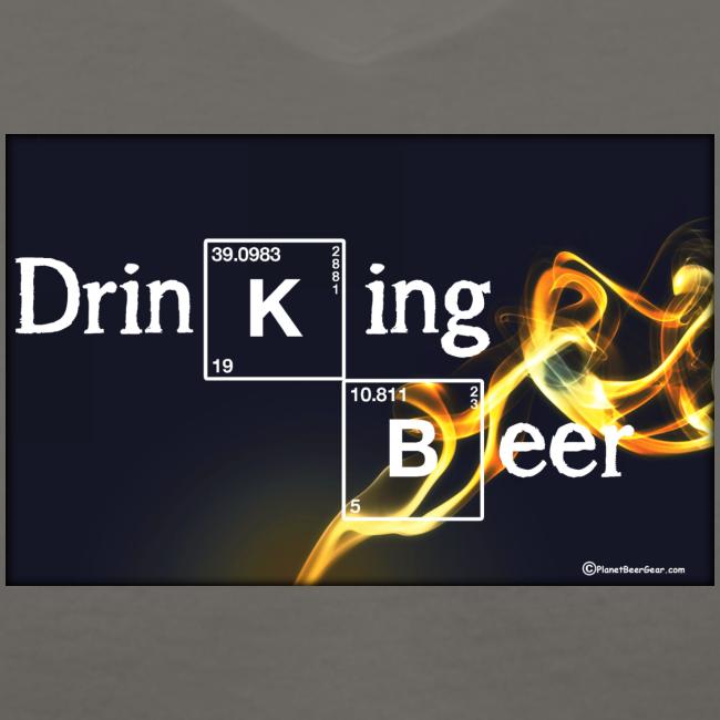 Drinking Beer Women's V-Neck T-Shirt