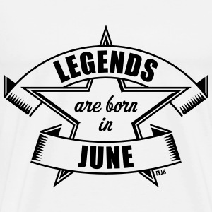 Legends are born in June (Birthday Present Gift) T-Shirts - Men's Premium T-Shirt