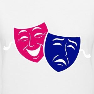 Comedy & Tragedy - Women's V-Neck T-Shirt