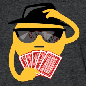 poker face T-Shirts - Fitted Cotton/Poly T-Shirt by Next Level