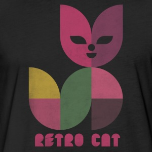 retro cat T-Shirts - Fitted Cotton/Poly T-Shirt by Next Level