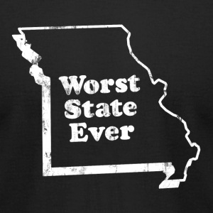 MISSOURI - WORST STATE EVER T-Shirts - Men's T-Shirt by American Apparel