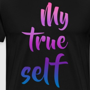 My True Self Transgender Pride T-Shirt T-Shirts - Men's Premium T-Shirt