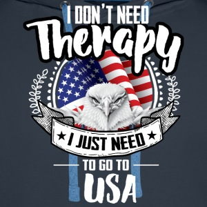 Countries Therapy USA Men's Long Sleeve - Men's Premium Hoodie