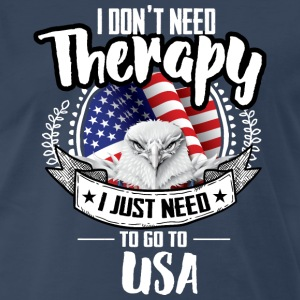 Countries Therapy USA T-Shirts - Men's Premium T-Shirt