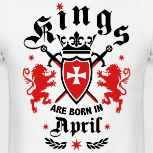 Kings April King Lions Knight Shield Birthday Tee - Men's T-Shirt