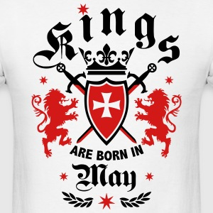 Kings May King Lions Knight Shield Birthday Tee - Men's T-Shirt