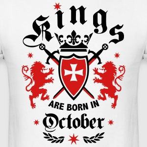 Kings October King Lions Knight Shield Birthday Te - Men's T-Shirt