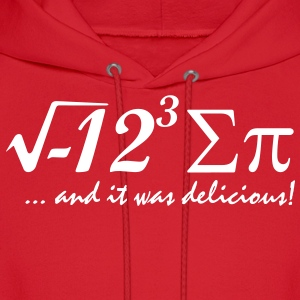 i eight sum pi Hoodies - Men's Hoodie